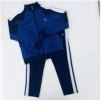 Conjunto Esportivo - Azul com Branco  - Polo Ralph Laure   - TAM 7 - 6 anos - Ralph Lauren