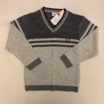 Blusa de Malha - Marca Noruega - Cinza Claro - Tam 8 - NOVA - 6 anos - Noruega