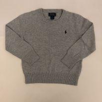 Blusa de linha - Marca Polo Ralph Lauren - Cor Cinza - Tam 6 - 6 anos - Ralph Lauren