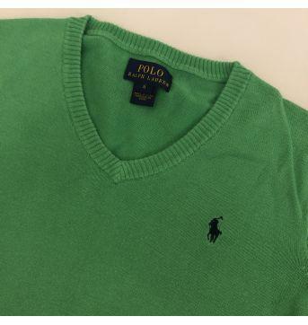 Blusa de linha - Marca Polo Ralph Lauren - Cor Verde - Tam 6 - 6 anos - Ralph Lauren