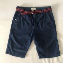 Bermuda - Zara - Azul Marinho - com cinto - Tam  7 - 6 anos - Zara