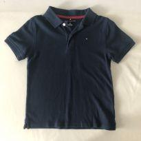 Camiseta Polo - Marca Tommy Hilfiger -  cor Azul - Tamanho P (6-7) - 6 anos - Tommy Hilfiger