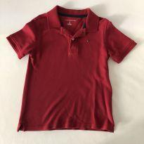 Camiseta Polo - Marca Tommy Hilfiger -  cor Vermelha - Tamanho P (6-7) - 6 anos - Tommy Hilfiger