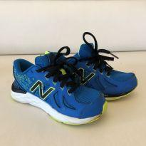 Tênis New Balance - Azul com Amarelo - Tam 30 - 30 - New Balance