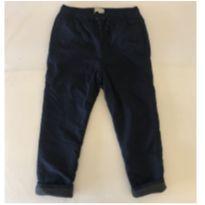Calça - Tactel com Forro de Fleece - Azul Marinho - Zara - Tam 7 - 6 anos - Zara