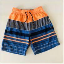 Shorts - marca Carters - Listrado Azul/Laranja - Tam 6 - 6 anos - Carter`s