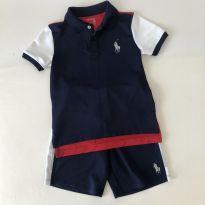 Conjunto Esportivo - Azul / Vermelho/Branco - Polo Ralph Lauren - Tam 6 - 6 anos - Ralph Lauren