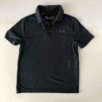 Camiseta tipo Polo -  marca - Under Armour - Listrada Preto/Cinza - Tam P - 6 anos - Under Armour