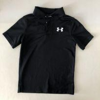 Camiseta tipo Polo -  marca - Under Armour - Dri-fit Preta - Tam P - 6 anos - Under Armour