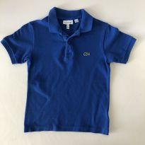 Camiseta polo - marca Lacoste - cor Azul - Tam 8 - 6 anos - Lacoste
