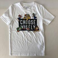 Camiseta branca - marca Abercrombie Kids - Mario Bros - Tam 7/8 - 6 anos - Abercrombie