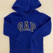 Blusa de Moletom - GAP - cor Azul Royal - flanelada - Tam 6 - 6 anos - GAP