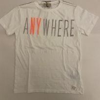 Camiseta Zara - Cor offwhite - Tam 8 - NOVA - 8 anos - Zara