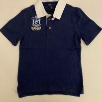 Camiseta polo - marca GAP - Azul Marinho - Tam 6-7 - 6 anos - GAP