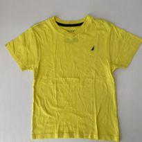 Camiseta - marca Náutica - cor Amarela - tam 6 - 6 anos - Nautica