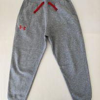 Calça de Moletom - Under Armour - cor Cinza - Flanelada - Tam P - 7 anos - Under Armour
