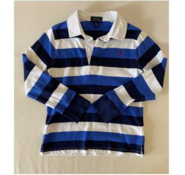 Camiseta Polo Ralph Lauren - Listrada - Manga Longa - tam 6 - 6 anos - Ralph Lauren