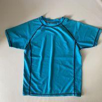 Camiseta para piscina - cor Azul - tam 8 - 7 anos - Sem marca