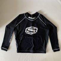 Camiseta para piscina - cor Preta - marca Sthill - tam 12 - 7 anos - Sem marca