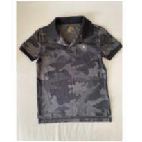 Camiseta Dri-Fit - marca Polo Ralph Lauren - cor Preta Camuflada - tam 7 - 7 anos - Ralph Lauren