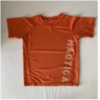 Camiseta Dri-Fit - marca Náutica  - cor Laranja - tam 7 - 7 anos - Nautica