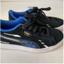 Tênis Puma X Sega Suede Sonic PS Infantil - Tam 33 - 33 - Puma