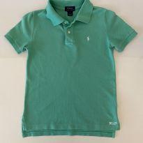 Camiseta Polo - marca Polo Ralph Lauren - cor Verde Água - Tam 7 - 7 anos - Ralph Lauren