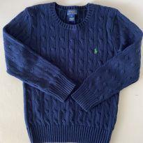 Blusa de lã - Polo Ralph Lauren - Azul Marinho - Tam 7 - 7 anos - Ralph Lauren