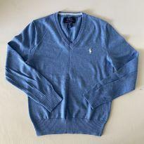 Blusa de lã - Polo Ralph Lauren - cor Azul Claro -  Tam 8 - 8 anos - Ralph Lauren