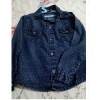 Camisa social jeans - 4 anos - Não informada