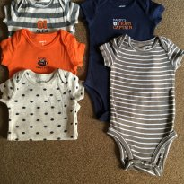 Kit 5 Bodys Curtos Carters - All Star - 3M - 3 meses - Carter`s