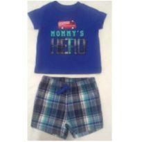 Conjunto Camiseta e Bermuda  Bebê Carter`s just one you - 3 meses - Carter`s