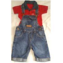 Jardineira Jeans despojada - 1 ano - Sem marca