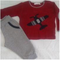 Duplinha -Cardigã Paola tricot e calça Paola Bimbi - 6 a 9 meses - Paola BimBi