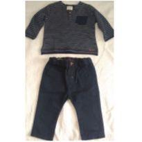 Camiseta manga longa Zara e Calça Sarja Color | Zara Baby Boy - 3 a 6 meses - Zara