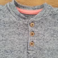 Camiseta basica botão 9-12 meses teddy boom - 9 a 12 meses - Teddy Boom