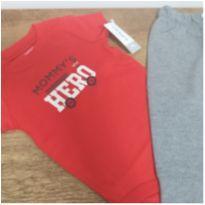 Conjunto menino body + calça tam.9m - 9 meses - Carter`s e Old navy, Carters e Puc