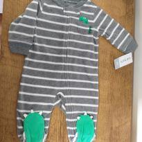 Macacão menino Fleece dino lindo tam. 3M - 3 meses - Carter`s e carter`s, baby gap, zara