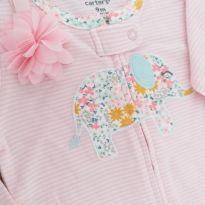 Macacão CARTER`S menina + faixa cabelo rosa - 9 meses - Carter`s e Old navy, Carters e Puc