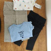 Kit Carters (2 legging + 2 Body) novo menina tam.6m - 3 a 6 meses - Carter`s e CARTERS/TIPTOP/ZARA