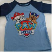 Camiseta Praia Piscina Menino Patrulha Canina - 4 anos - nickelodeon