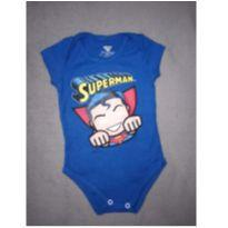 Body manga curta Superman - 3 a 6 meses - Marlan