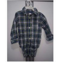 Camisa xadrez Carter`s - Azul branco e verde - 9 meses - Carter`s