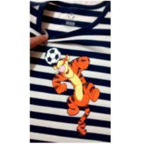 Blusa manga curta listrada Tigrão - 6 anos - Disney