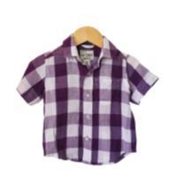 camisa xadrez The Children´s Place - 9 a 12 meses - The Children`s Place