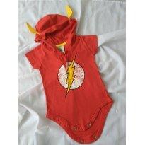 Body do Flash com capuz - 0 a 3 meses - DC Comics