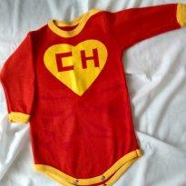 Body com mangas Chapolin Colorado - 9 a 12 meses - Importada