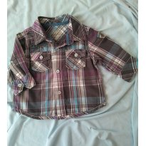 Camisa social xadrez - 3 a 6 meses - Baby Club