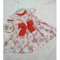 Vestido floral chic - 0 a 3 meses - Dayane baby