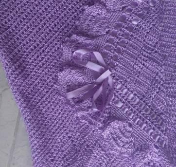 Manta em crochê - Sem faixa etaria - Feita à mão